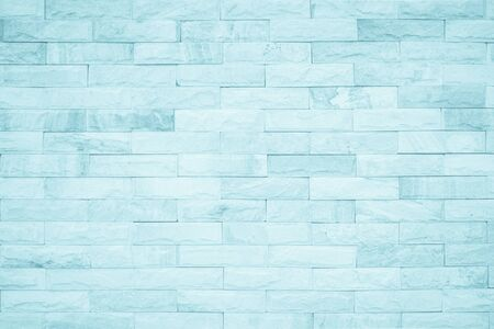 Seamless Blue pastel pattern of decorative brick sandstone surface with concrete of modern style design decorative uneven have cracked realmasonry wall of multicolored stones or blocks white cement.