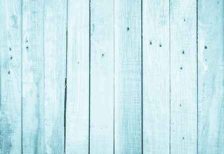 Old grunge wood plank texture background. Vintage blue wooden board wall have antique cracking style background objects for furniture design. Painted weathered peeling table woodworking hardwoods. 写真素材