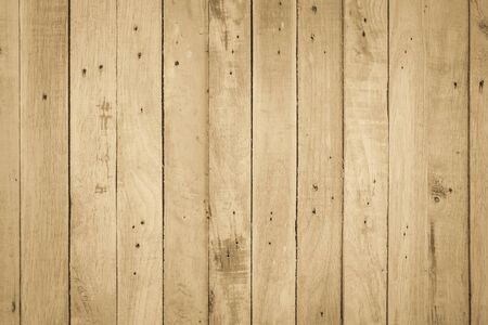 Brown Wood texture background. Wood planks old of table top view and board wooden nature pattern are grain hardwood panel floor. Design timber vintage wall textured material for banner copy space. 写真素材