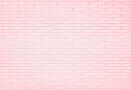 Pastel Pink and White brick wall texture background. Brickwork or stonework flooring interior rock old pattern clean concrete grid uneven brick design stack. Home or office design backdrop decoration. Banque d'images - 151149790