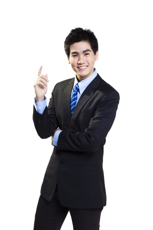 Asian businessman smiling. 版權商用圖片