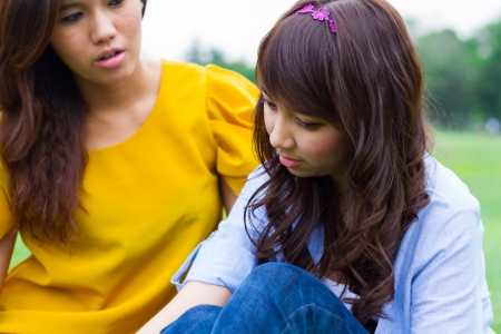 heart problems: Young women looking depressed