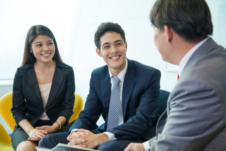 financial insurance: Business people in meeting room