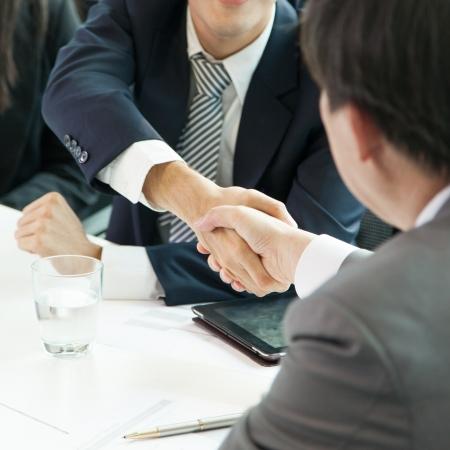 apreton de manos: Negocios Handshake