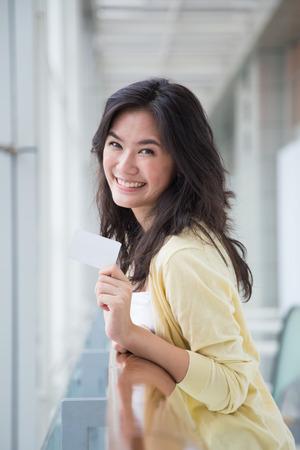 Asian woman shopping photo
