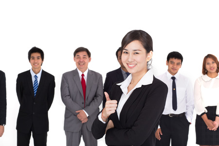 asian working woman: Business Team Stock Photo