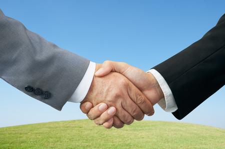 Businessmen shaking hands. photo