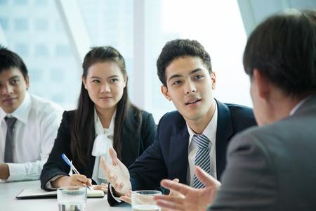 会議室のビジネス人々 写真素材