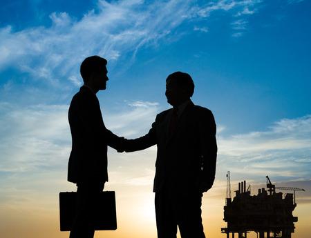 aceites: Negocios acuerdo Foto de archivo