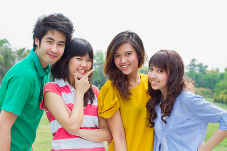 Group of Asian young people