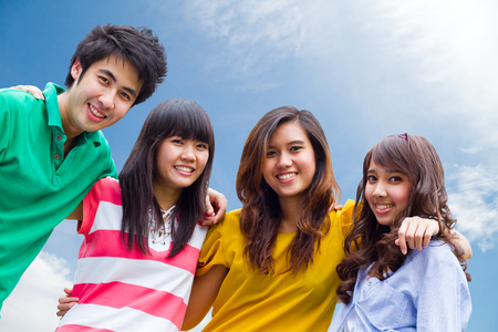 Group of Asian young people. 版權商用圖片