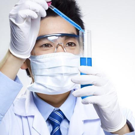 medical scientist: Asian scientist Stock Photo