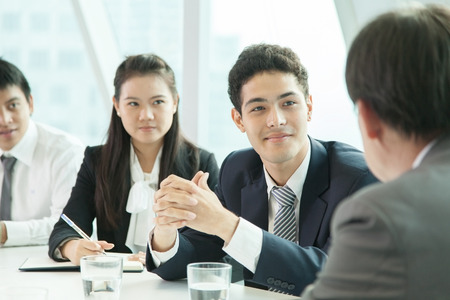 businessgroup: asian business people discussing in the meeting room Stock Photo