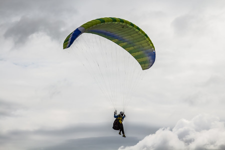 paratrooper: paratrooper parachute on sky in thailand