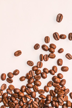 coffeebeans: Coffee Beans background texture isolated on white Stock Photo
