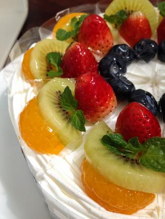 shortcake: fruit shortcake on the dish