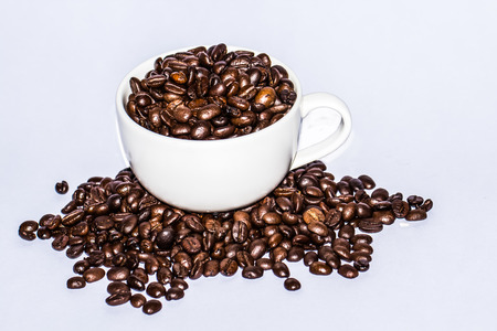 coffeebeans: coffee beans on the cup