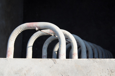 fixed: met�lica fija escalera en construcci�n Foto de archivo