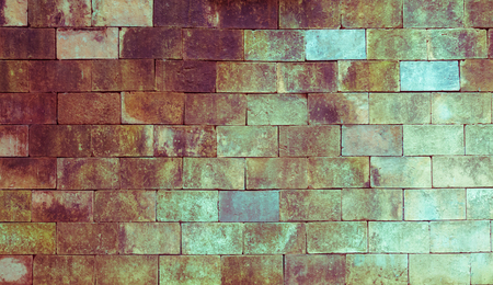 unyielding: background of old brick texture, vintage toning Foto de archivo