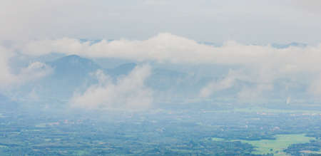 unruffled: View of the Smoky Mountains in thailand Stock Photo