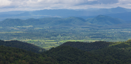unruffled: view of the majestic layer mountains in thailand