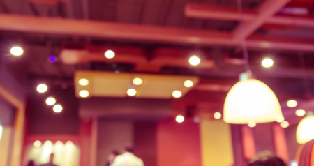 vend: abstract blur background of  restaurants ceiling in the shopping mall,vintage toning Stock Photo