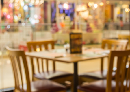 lucid: abstract blur background of restaurant in the shopping mall Stock Photo