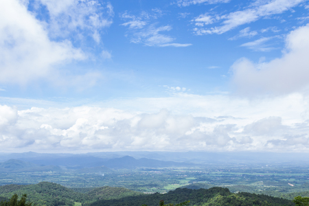 unruffled: view of the majestic clouds and mountains in thailand Stock Photo