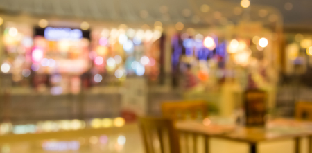 barter: abstract blur background of restaurant in the shopping mall Stock Photo