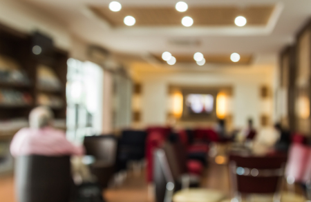 vend: abstract blur background of lobby in the shopping mall Stock Photo