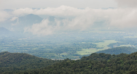smoky: View of the Smoky Mountains in thailand Stock Photo