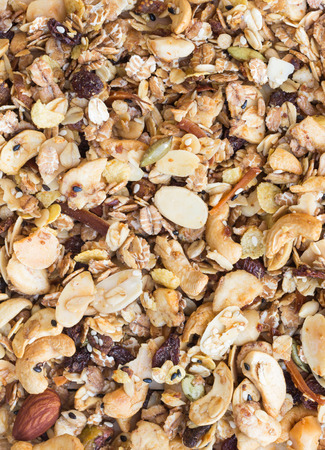 gluttonous: Pile of granola cereal