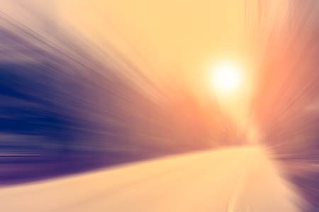 lambent: road and sunset in motion blur effect