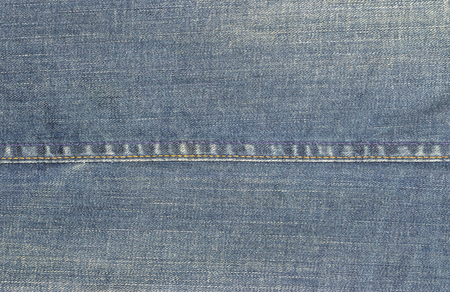 seams: closeup of denim jeans texture with seams Stock Photo