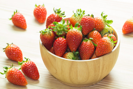 pellucid: close up of group of fresh red strawberry