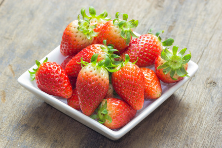 repast: close up of group of fresh red strawberry