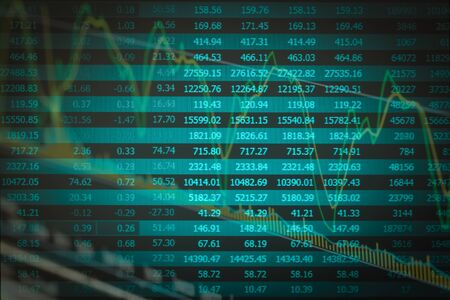 pellucid: Financial data on a monitor,Stock market data on LED display concept
