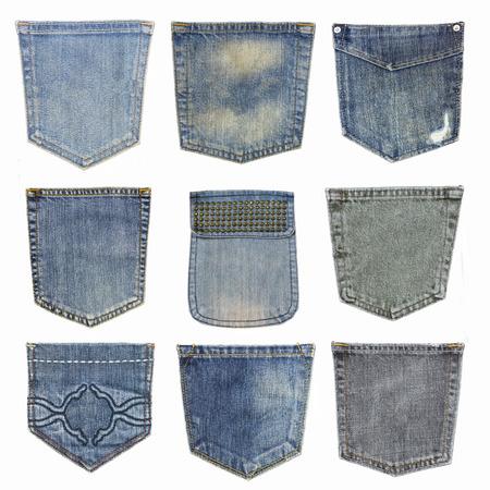 set of closeup  texture   jean , Pocket detail
