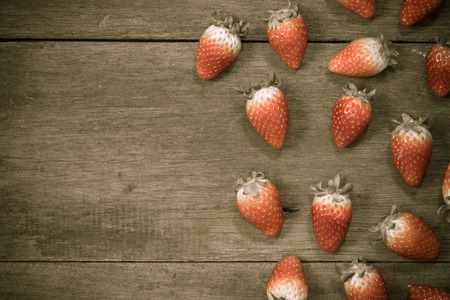 lambent: close up of group of fresh red strawberry,made with filter Stock Photo