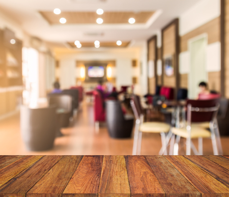 sumptuous: old wood texture with  blur lobby  background Stock Photo