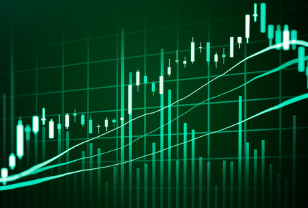 digital asset management: Financial data on a monitor,Stock market data on LED display concept