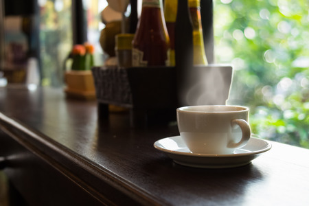 repast: cup of coffee in the morning,selective focus