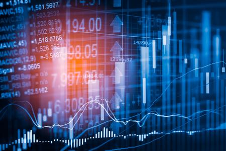 Börsenindikator und Finanzdaten sehen aus LED. Doppel explosure Finanzdiagramm und Bestandskennzeichen einschließlich Aktien Bildung oder Marketing-Analyse. Zusammenfassung der Finanzkennzahlen Hintergrund. Standard-Bild - 69455419