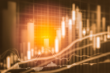 Börsenindikator und Finanzdaten sehen aus LED. Doppel explosure Finanzdiagramm und Bestandskennzeichen einschließlich Aktien Bildung oder Marketing-Analyse. Zusammenfassung der Finanzkennzahlen Hintergrund. Standard-Bild - 71923280