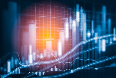 Börsenindikator und Finanzdaten sehen aus LED. Doppel explosure Finanzdiagramm und Bestandskennzeichen einschließlich Aktien Bildung oder Marketing-Analyse. Zusammenfassung der Finanzkennzahlen Hintergrund. Standard-Bild - 69769087