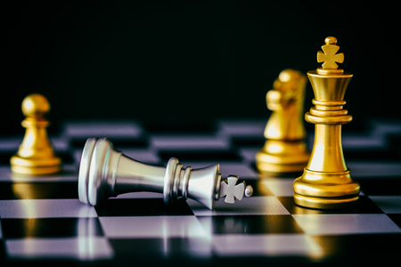 battle plan: Strategy chess battle Intelligence challenge game on chessboard. Success the strategy concept. Chess business leader and success idea. Chess strategy game business competition success play.