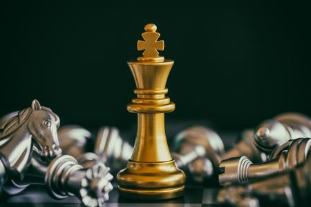 Strategie Schach Kampf Intelligenz Herausforderung Spiel auf dem Schachbrett. Erfolg das Strategiekonzept. Schachgeschäftsführer und Erfolgsidee. Schachstrategie Spiel Business-Wettbewerb Erfolg spielen.