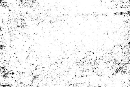 Vettore di struttura urbana di lerciume in bianco e nero con lo spazio della copia. Illustrazione astratta superficie polvere e ruvido muro sporco sfondo con modello vuoto. Distress e concetto di effetto grunge. vettore.