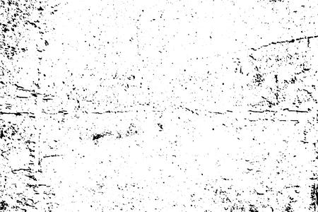 Vettore di struttura urbana di lerciume in bianco e nero con lo spazio della copia. Illustrazione astratta superficie polvere e ruvido muro sporco sfondo con modello vuoto. Distress e concetto di effetto grunge. vettore. Vettoriali