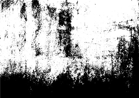 Black and white grunge urban texture vector with copy space. Abstract illustration surface dust and rough dirty wall background with empty template. Distress and grunge effect concept. Vector .